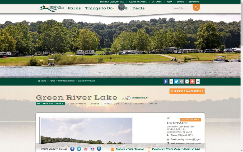 green river lake